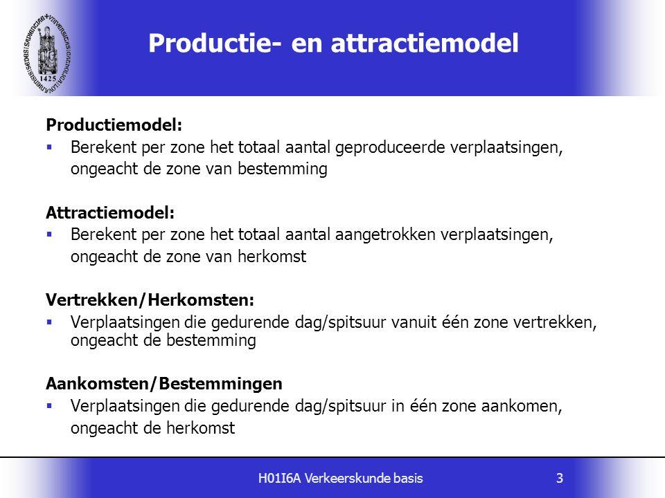 Productie- en attractiemodel
