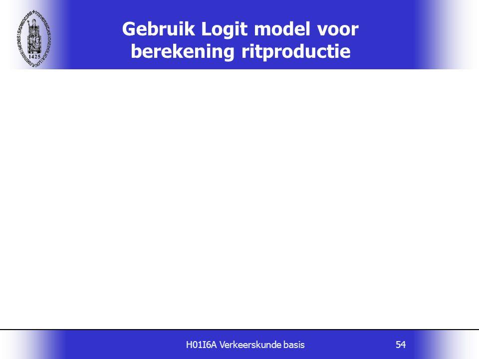 Gebruik Logit model voor berekening ritproductie