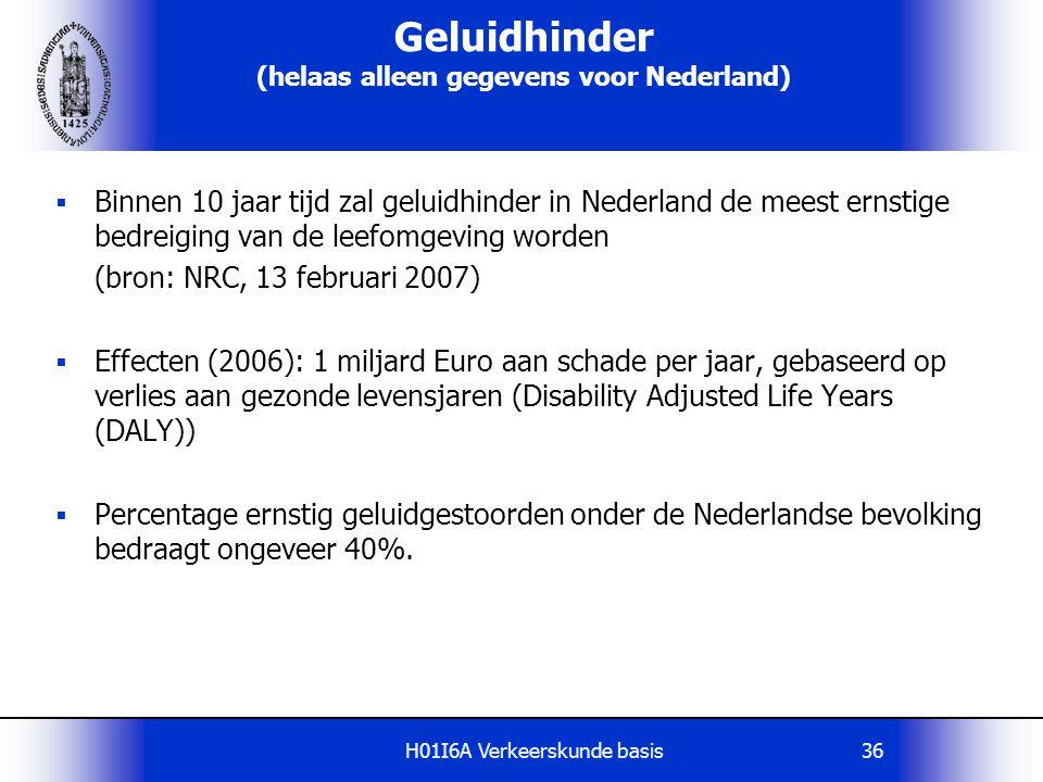 Geluidhinder (helaas alleen gegevens voor Nederland)