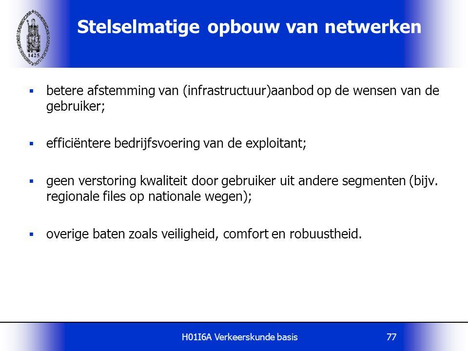 Stelselmatige opbouw van netwerken