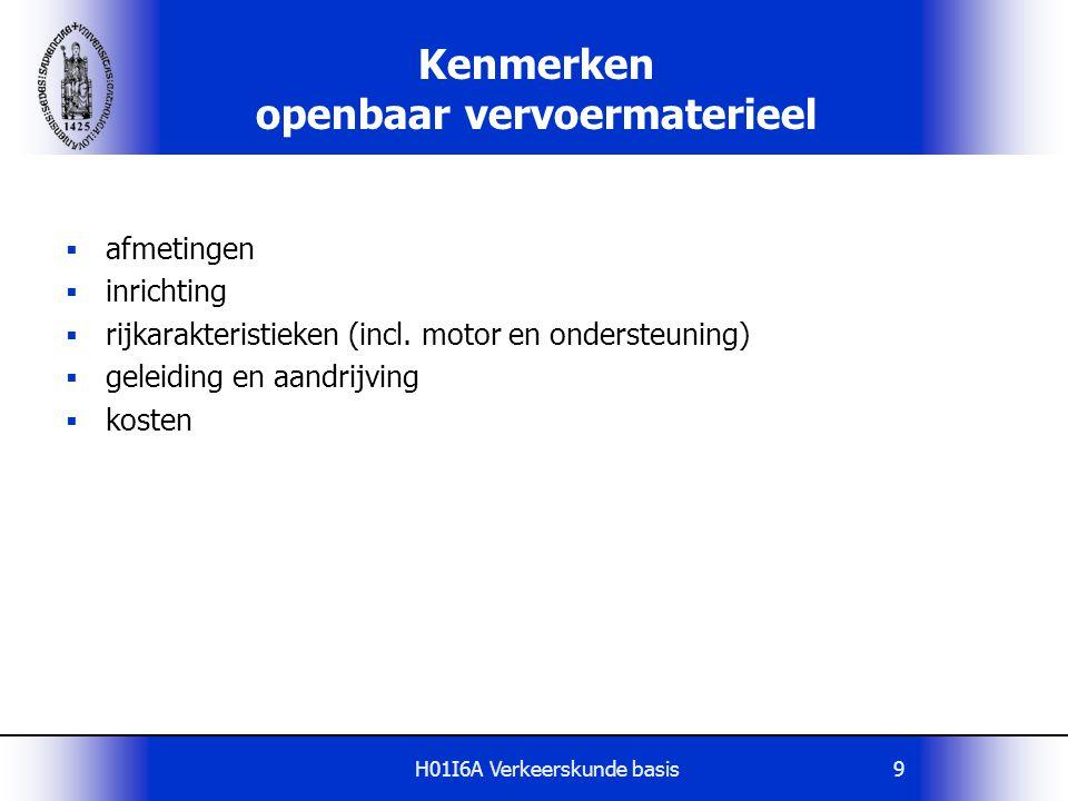 Kenmerken openbaar vervoermaterieel