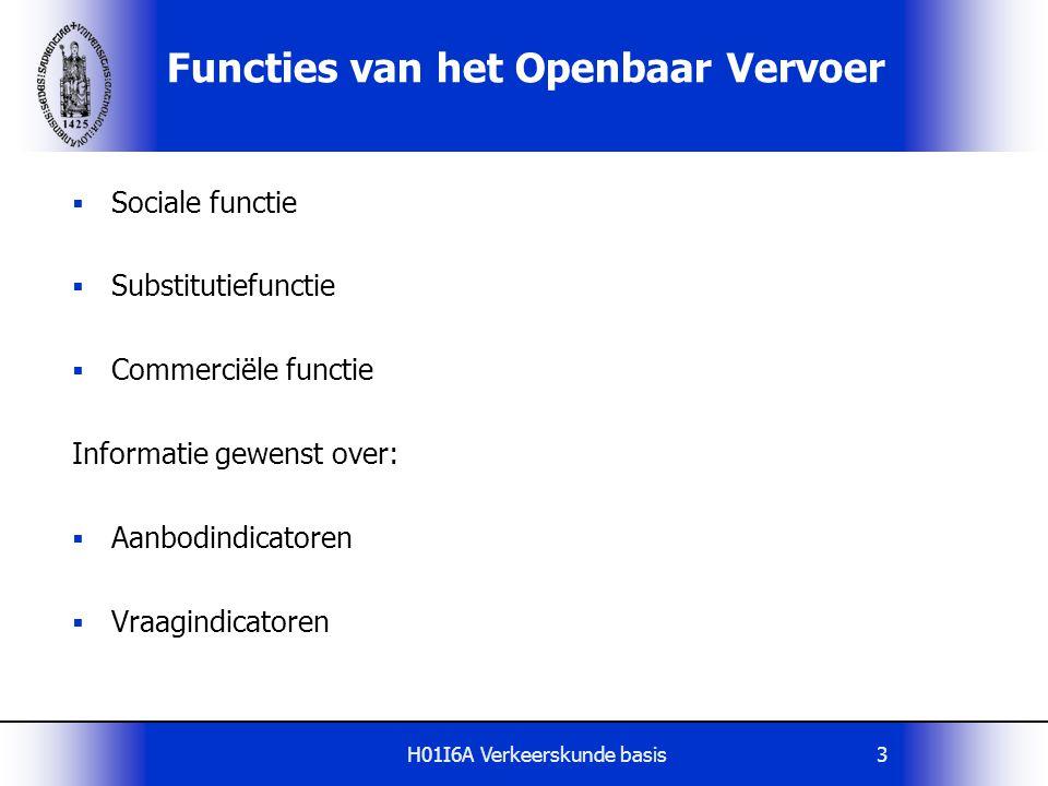 Functies van het Openbaar Vervoer