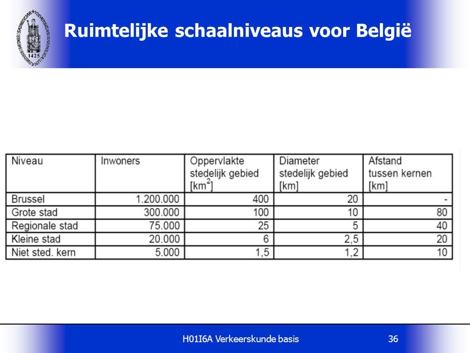 Ruimtelijke schaalniveaus voor België