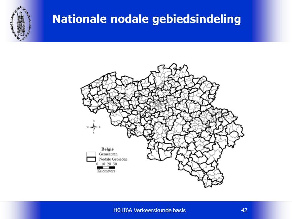 Nationale nodale gebiedsindeling