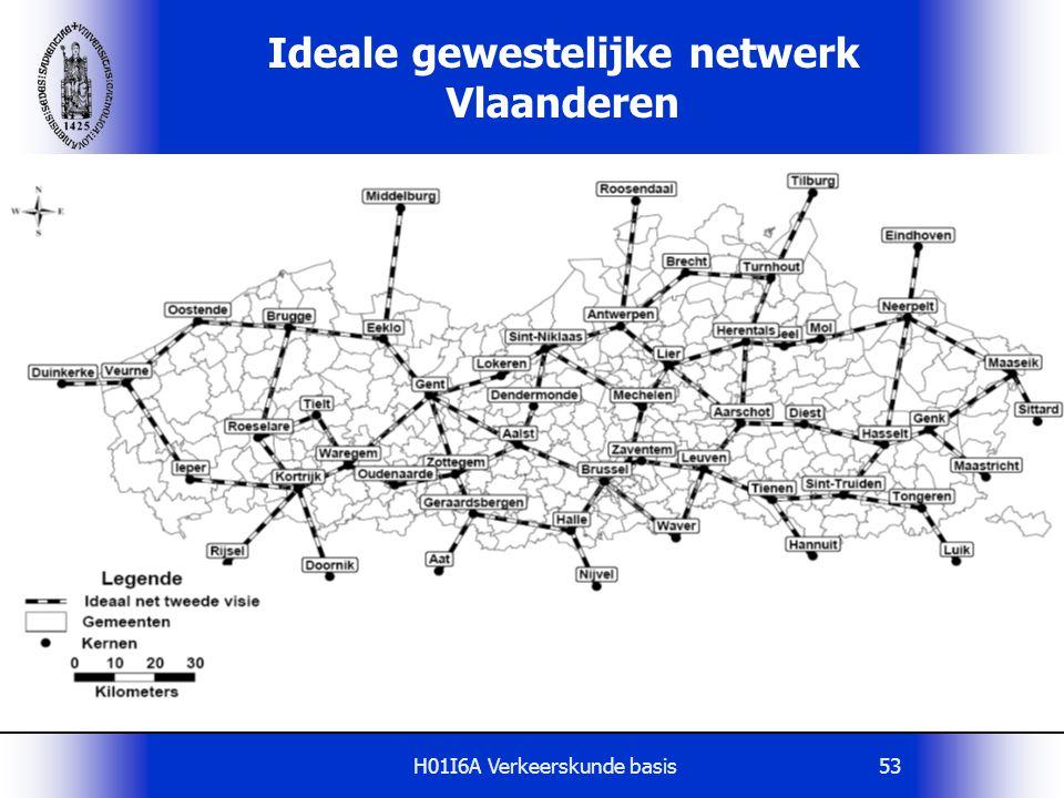 Ideale gewestelijke netwerk Vlaanderen