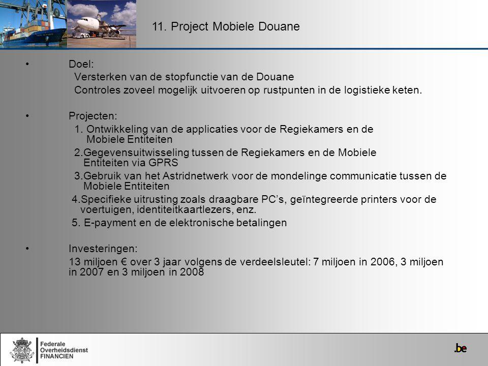 11. Project Mobiele Douane