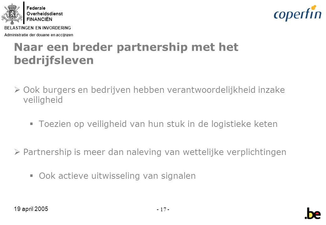 Naar een breder partnership met het bedrijfsleven