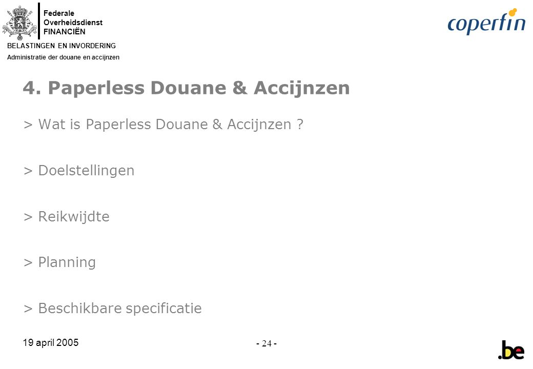 4. Paperless Douane & Accijnzen
