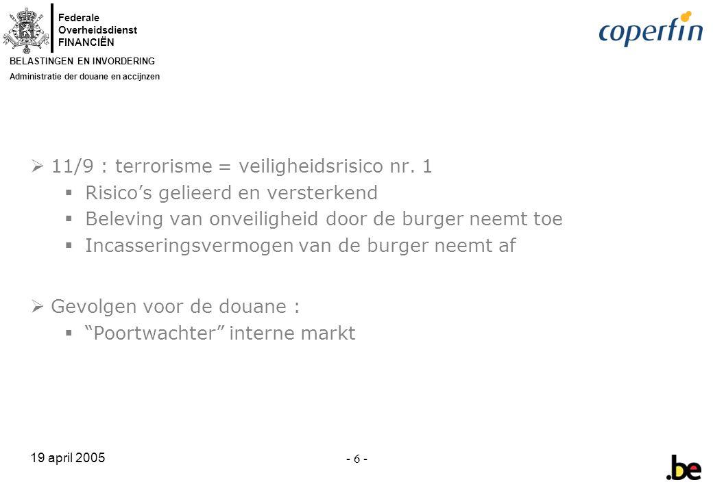 11/9 : terrorisme = veiligheidsrisico nr. 1