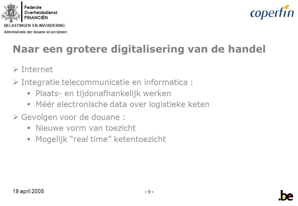 Naar een grotere digitalisering van de handel