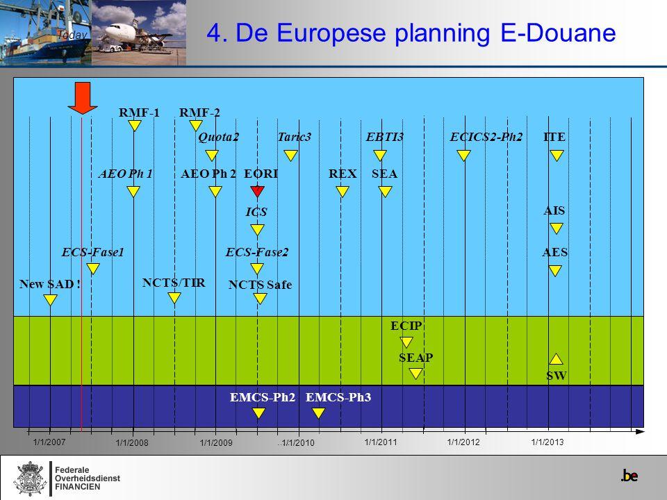 4. De Europese planning E-Douane