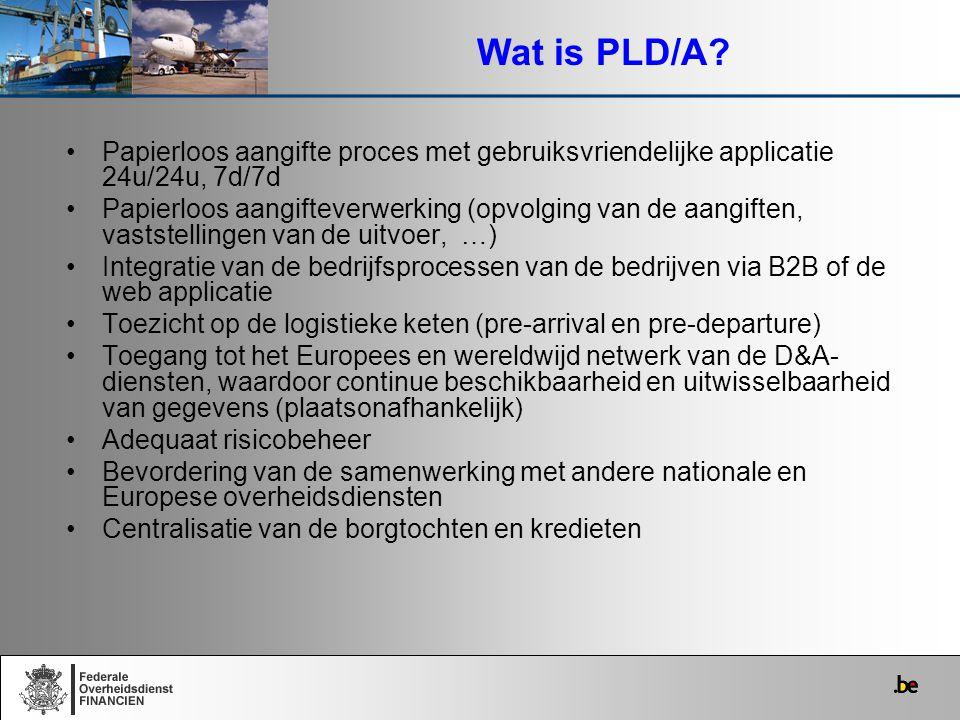 Wat is PLD/A Papierloos aangifte proces met gebruiksvriendelijke applicatie 24u/24u, 7d/7d.