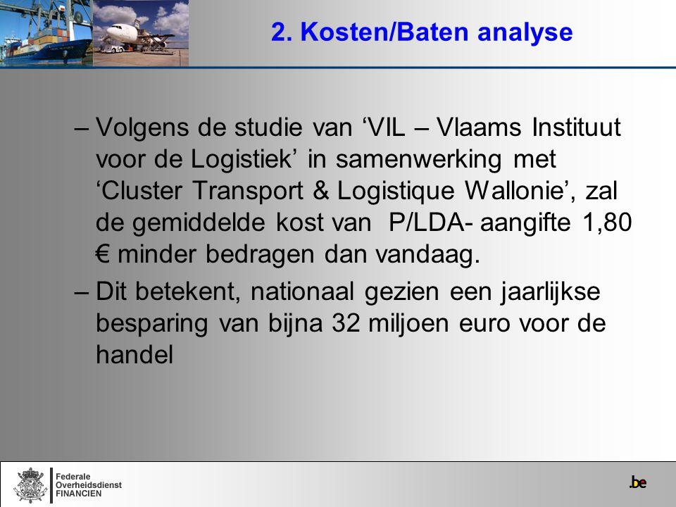 2. Kosten/Baten analyse