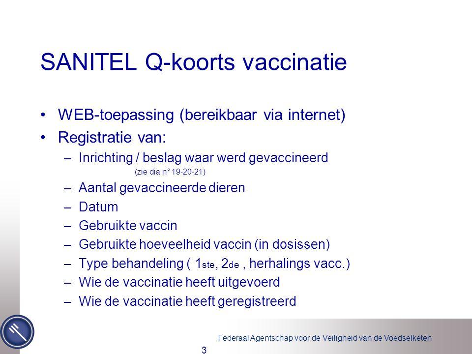 SANITEL Q-koorts vaccinatie