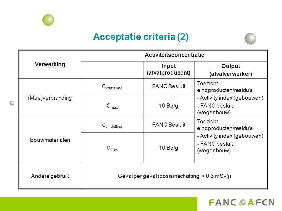 Acceptatie criteria (2)