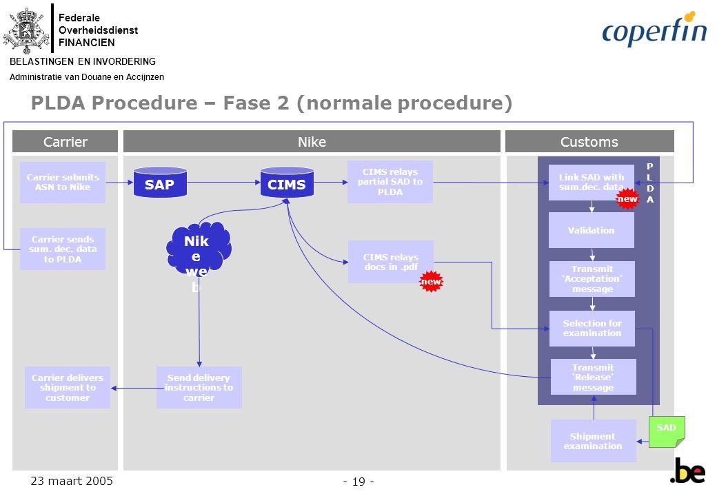 PLDA Procedure – Fase 2 (normale procedure)