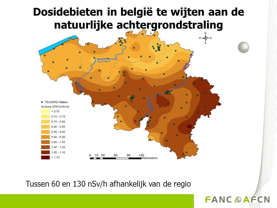 Dosidebieten in belgië te wijten aan de natuurlijke achtergrondstraling