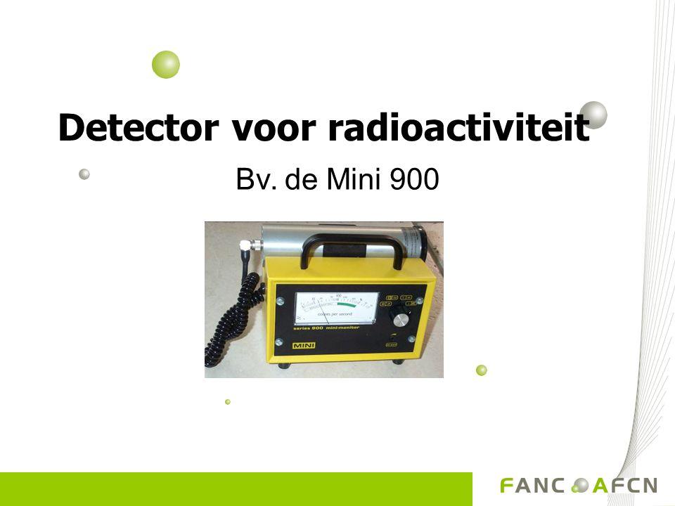 Detector voor radioactiviteit