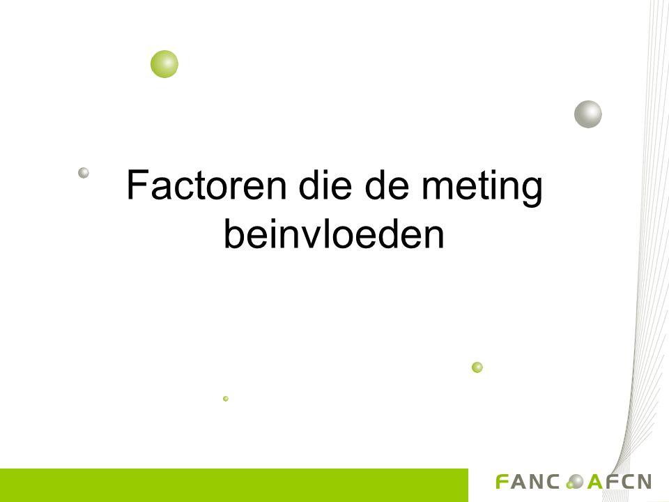 Factoren die de meting beinvloeden