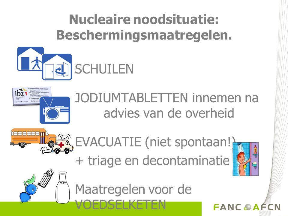 Nucleaire noodsituatie: Beschermingsmaatregelen.