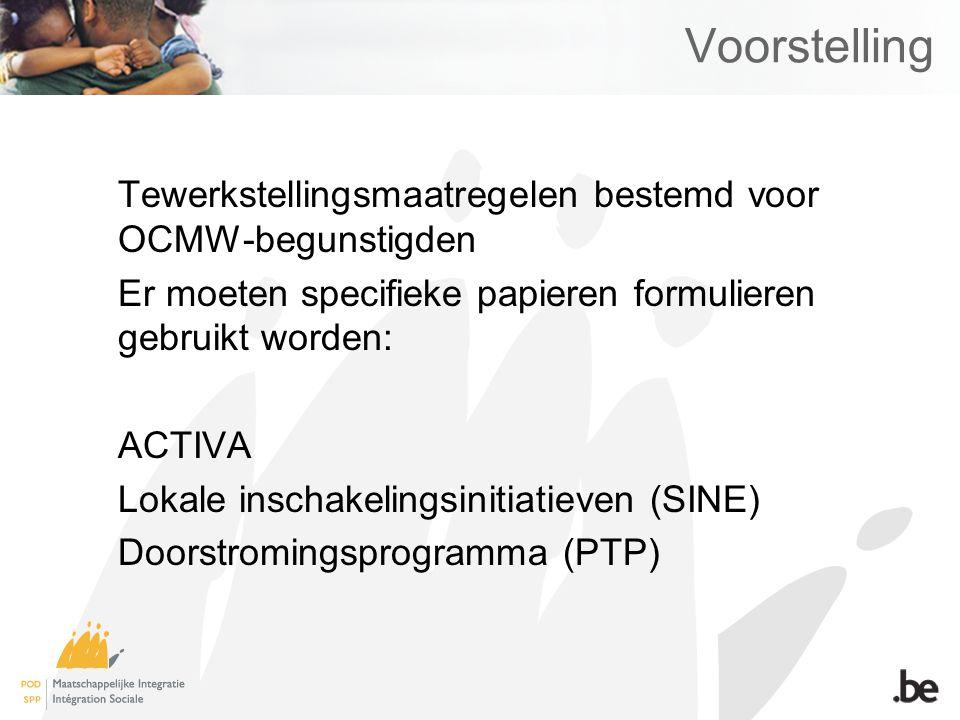 Voorstelling Tewerkstellingsmaatregelen bestemd voor OCMW-begunstigden