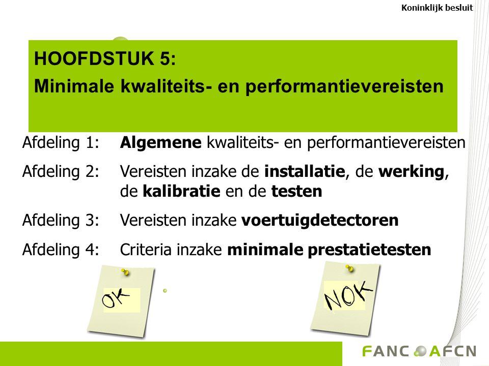 Minimale kwaliteits- en performantievereisten