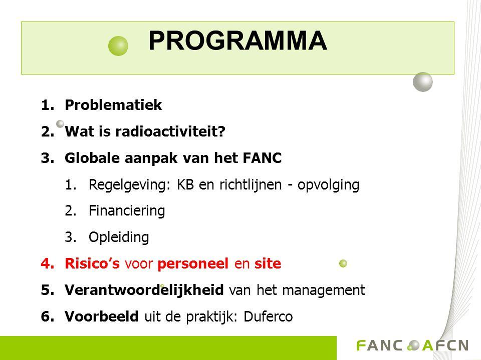 PROGRAMMA Problematiek Wat is radioactiviteit