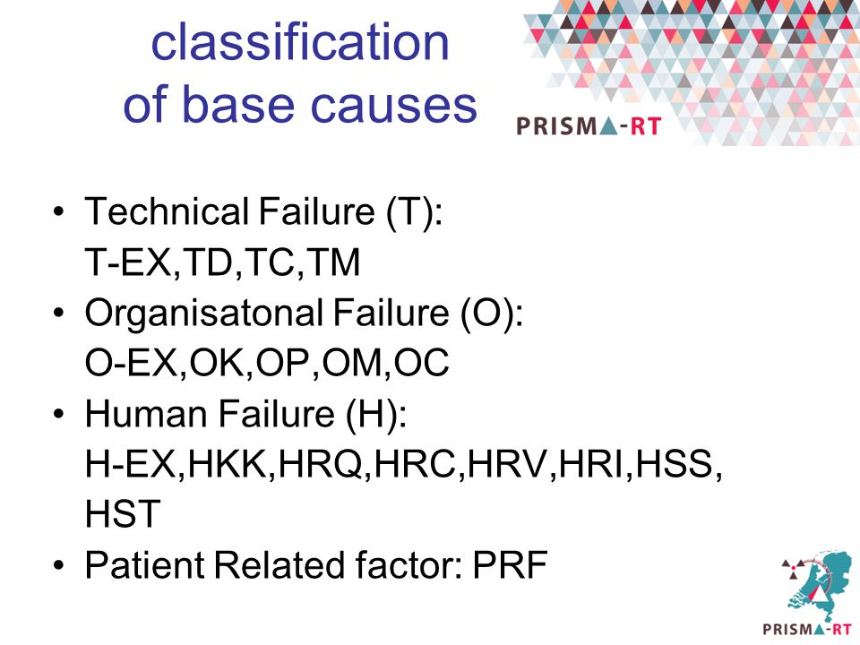 classification of base causes
