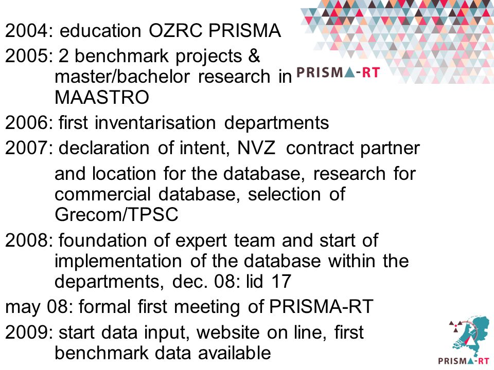 2004: education OZRC PRISMA