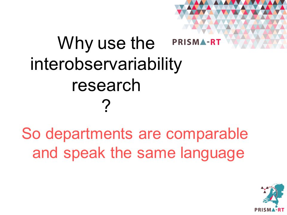 Why use the interobservariability research