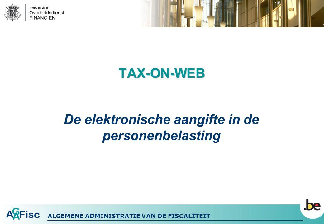 De elektronische aangifte in de personenbelasting