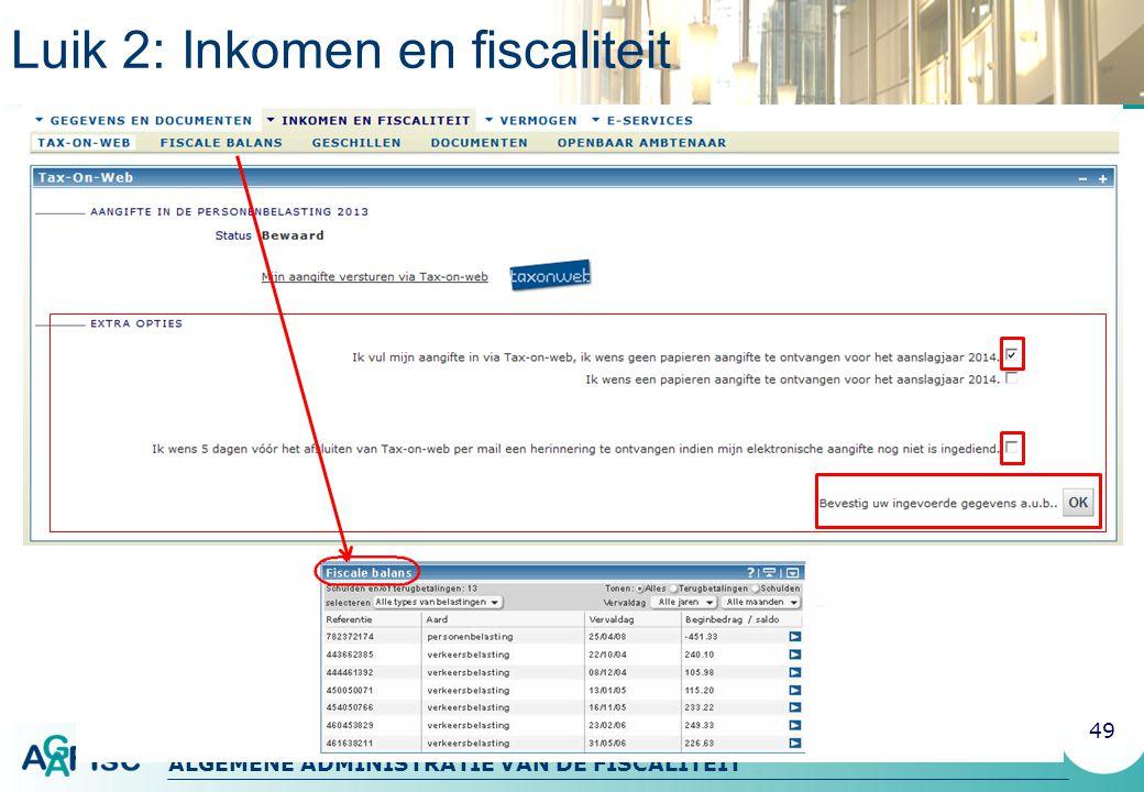 Luik 2: Inkomen en fiscaliteit