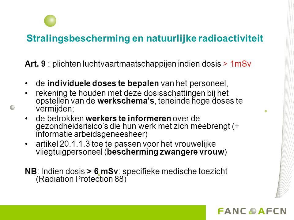 Stralingsbescherming en natuurlijke radioactiviteit