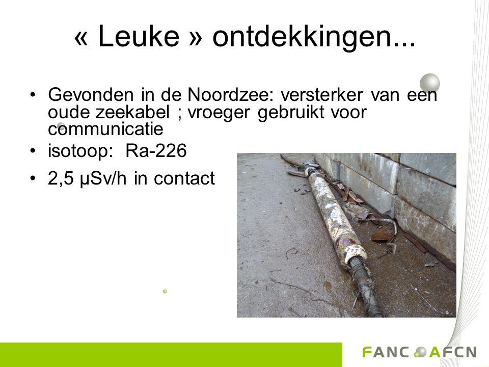 « Leuke » ontdekkingen... Gevonden in de Noordzee: versterker van een oude zeekabel ; vroeger gebruikt voor communicatie.