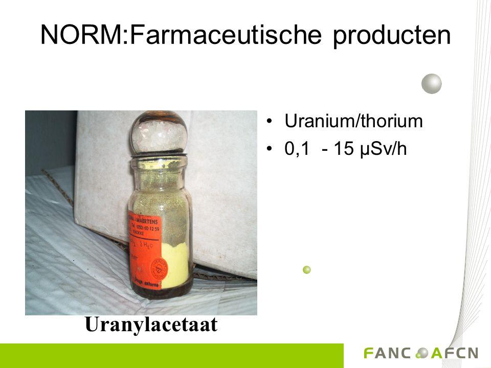 NORM:Farmaceutische producten