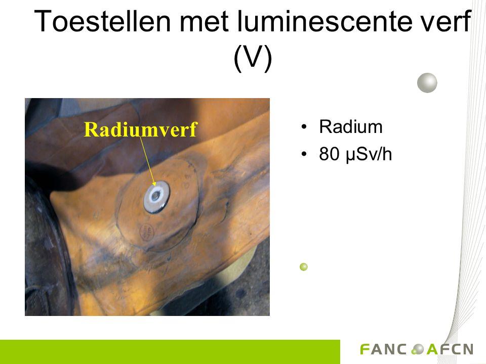Toestellen met luminescente verf (V)