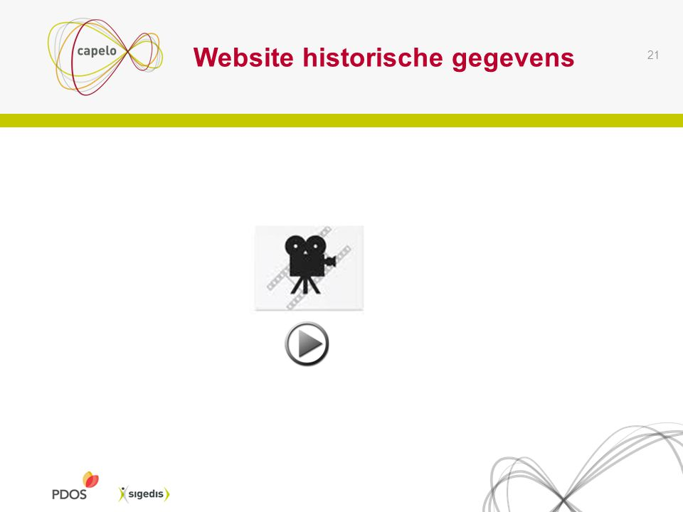 Website historische gegevens