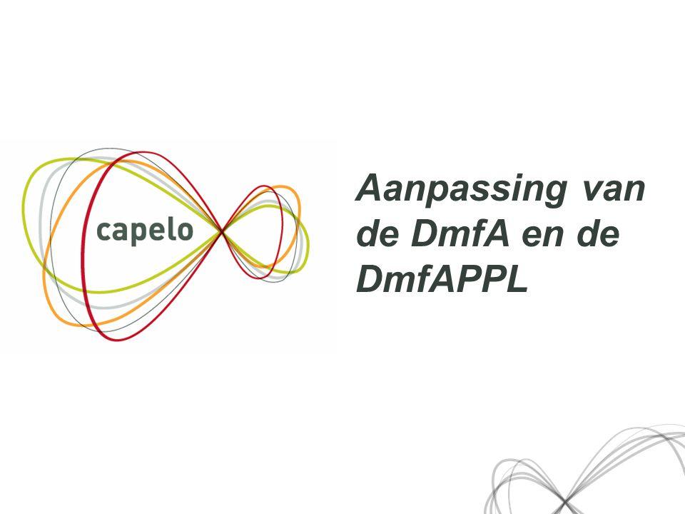 Aanpassing van de DmfA en de DmfAPPL