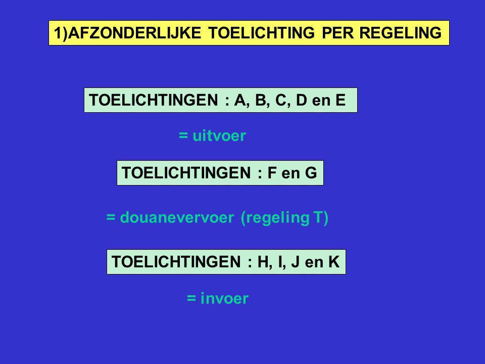 1)AFZONDERLIJKE TOELICHTING PER REGELING