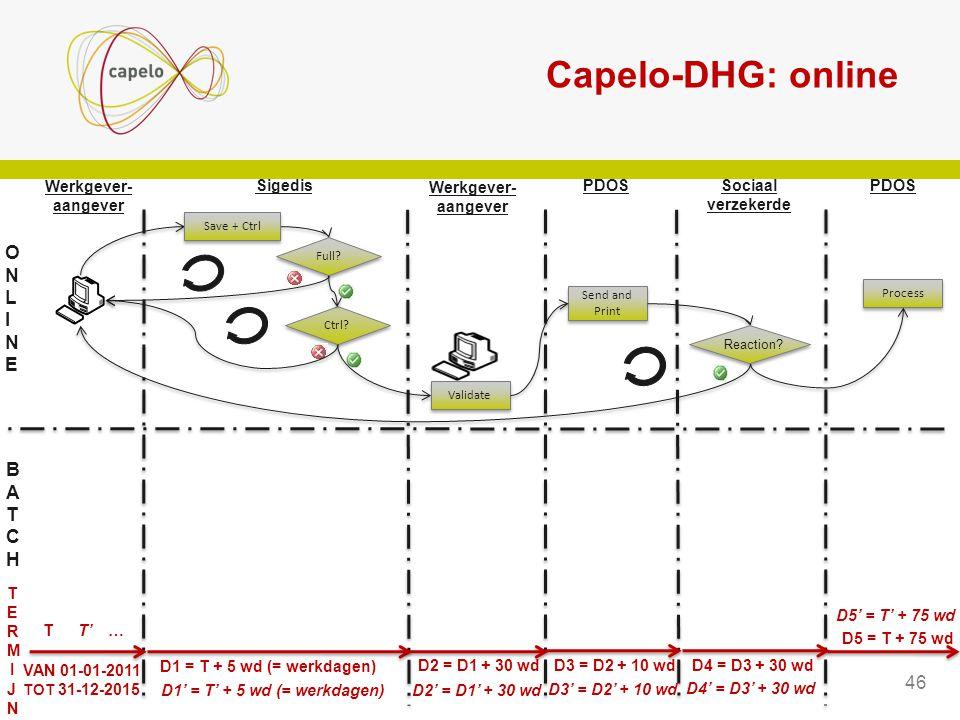 Capelo-DHG: online ONLINE BATCH 46 Sigedis PDOS Sociaal verzekerde
