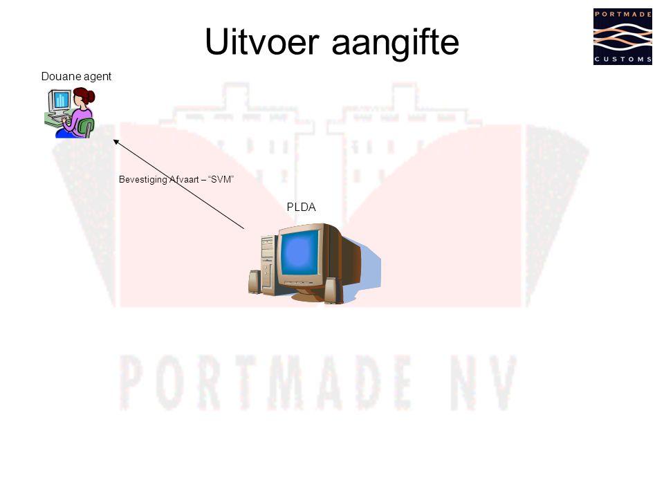 Uitvoer aangifte Douane agent Bevestiging Afvaart – SVM PLDA