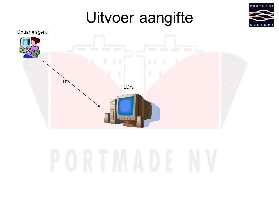 Uitvoer aangifte Douane agent LRN PLDA