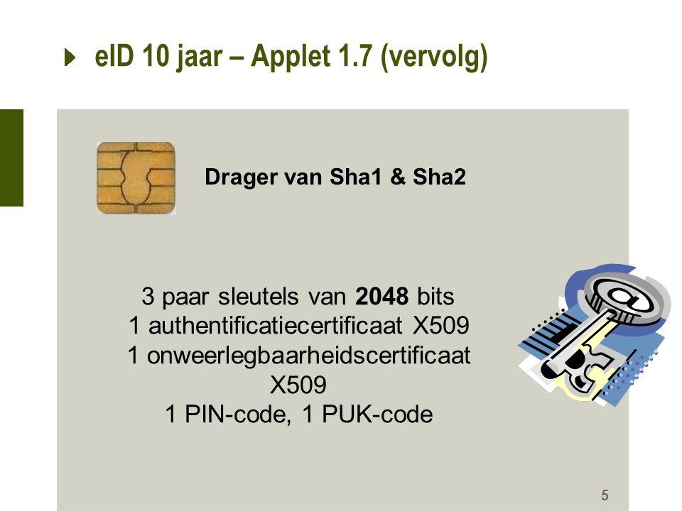 eID 10 jaar – Applet 1.7 (vervolg)