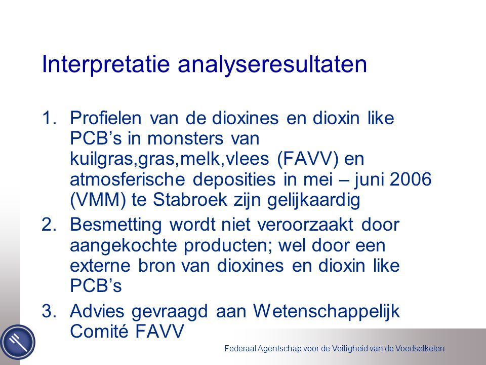 Interpretatie analyseresultaten