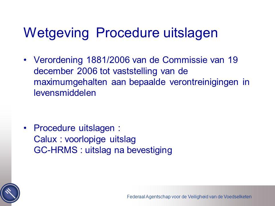 Wetgeving Procedure uitslagen