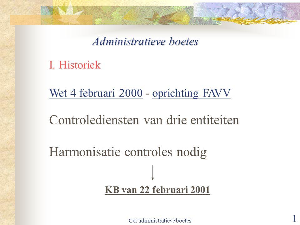 Controlediensten van drie entiteiten Harmonisatie controles nodig