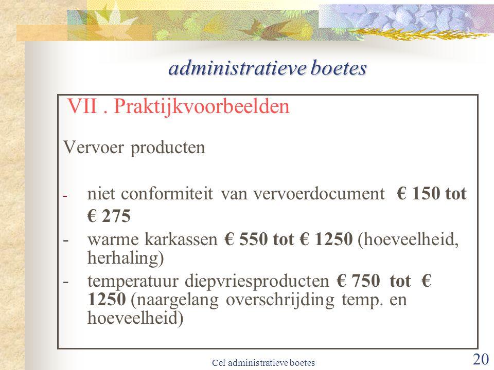 administratieve boetes