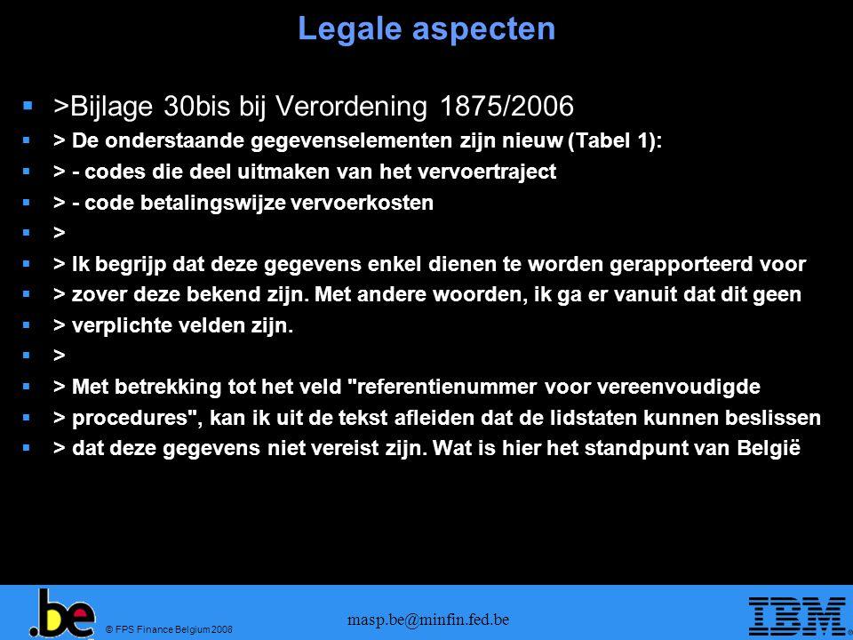 Legale aspecten >Bijlage 30bis bij Verordening 1875/2006