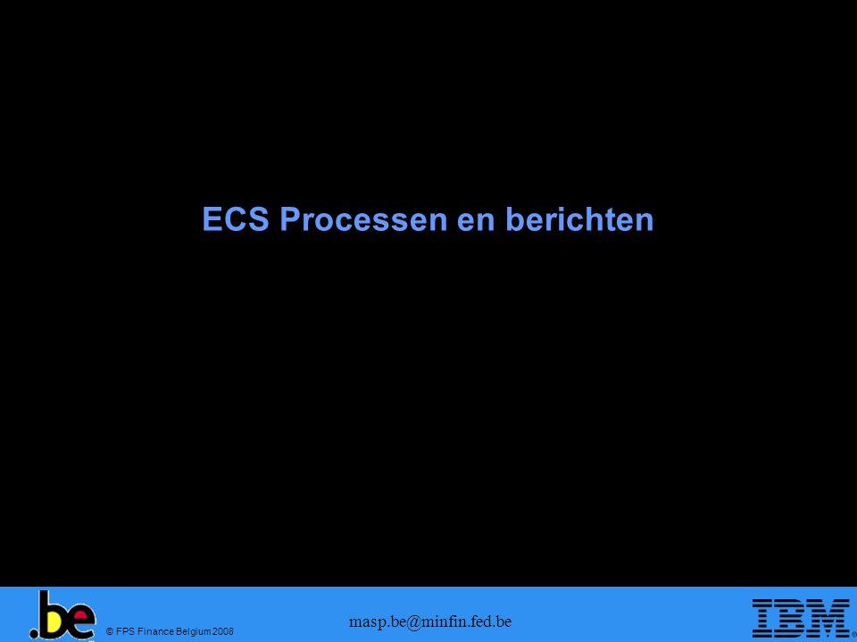 ECS Processen en berichten