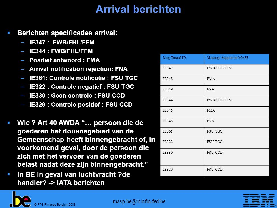 Arrival berichten Berichten specificaties arrival: